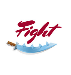 Fight game element with sword vector