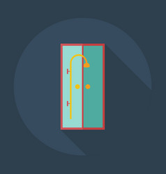 Flat modern design with shadow icons shower room vector
