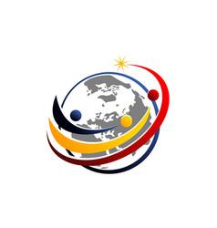 global leadership teamwork solutions vector image