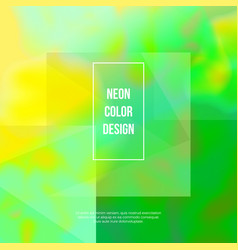 Green neon abstract background vector