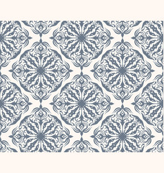 grey and white seamless pattern with floral and vector image