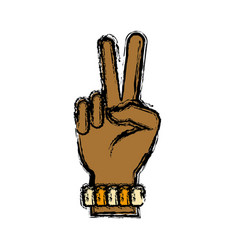 hand peace symbol vector image
