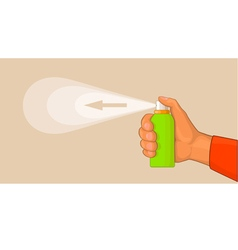 Hand with sprayer vector
