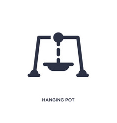 Hanging pot icon on white background simple vector