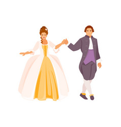 historical ballroom dance vector image