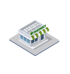 Hospital isometric 3d building vector