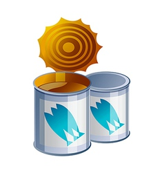 icon can vector image