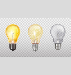 incandescent lamps electric light bulbs vector image
