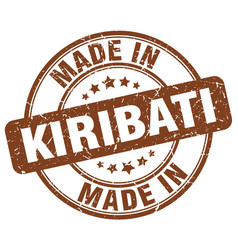 made in kiribati brown grunge round stamp vector image