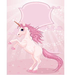 Magic unicorn vector image