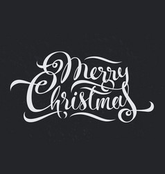 merry christmas calligraphy text art design vector image