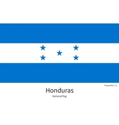 National flag of Honduras with correct proportions vector image