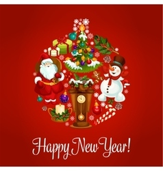 New Year greeting design vector