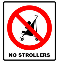 No strollers or pushchair vector