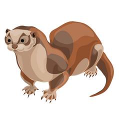 otter icon cartoon style vector image