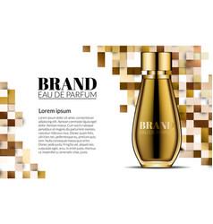 Perfume design glass bottle luxury cosmetics vector