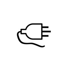plug line icon in flat style for apps ui websites vector image