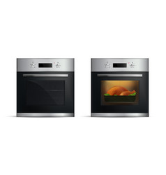 realistic ovens set vector image