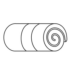 rolled towel icon outline style vector image
