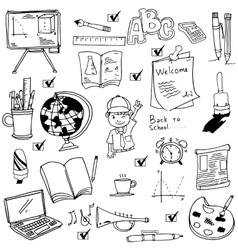 School object hand draw doodles vector