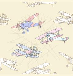 Seaml colors airplanes-14 vector