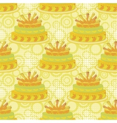 Seamless background holiday pie vector image