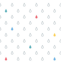 Seamless pattern with drops rain vector