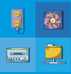 Set of computer hardware vector