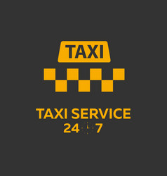 taxi service taxi banner flat vector image
