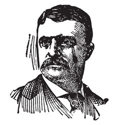 Theodore roosevelt vintage vector