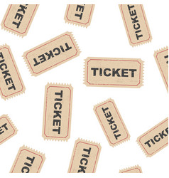 ticket seamless pattern background icon business vector image