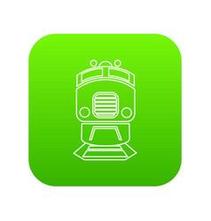 train icon green vector image