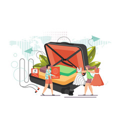travel concept flat style design vector image