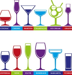 tumbler glass set vector image