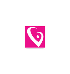 v initial abstract logo vector image