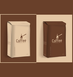 vacuum package of coffee vector image