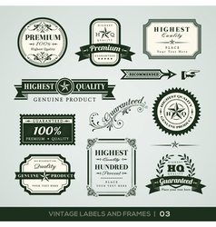 Vintage Premium Quality Labels vector