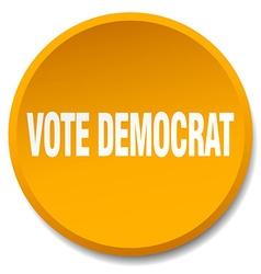 Vote democrat orange round flat isolated push vector