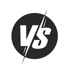 vs or versus logo for battle or fight game vector image