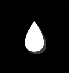 water drop icon flat vector image