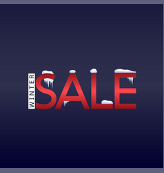 winter sale text vector image