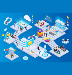 wireless technology isometric composition vector image