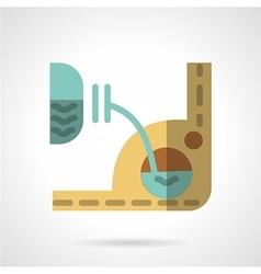 Car liquid change color icon vector image