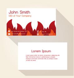 fire brigade theme business card design eps10 vector image