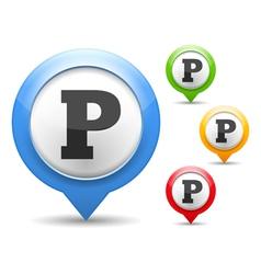 Parking Icon vector image vector image