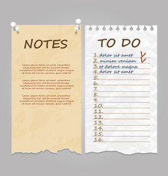 ripped pages for notes memo and to do list vector image