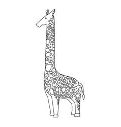Wild giraffe isolated icon vector
