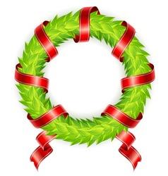 wreath ribbon vector image