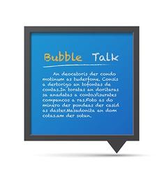 3d bubble talk blackboard design element eps10 vector