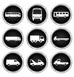 Commercial vehicle icons vector image vector image